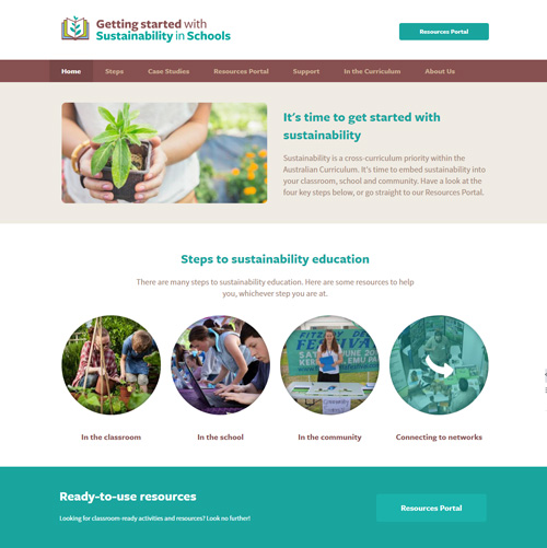 Sustainability in Schools Website